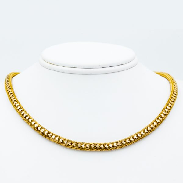woven sweetheart necklace