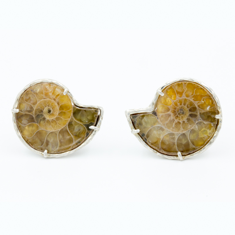 ammonite cuff links